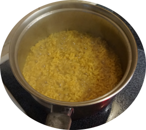 Cook rice using fish liquid