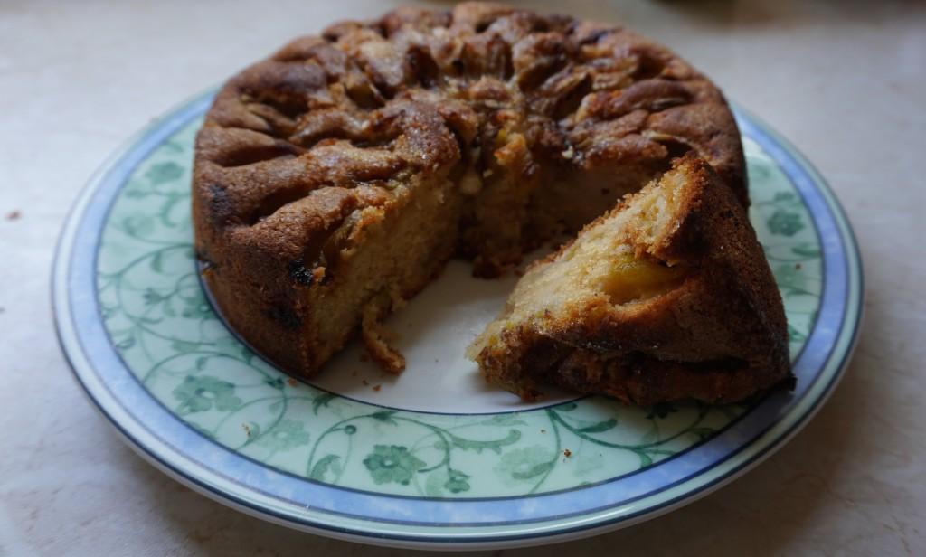 the finished pudding cake